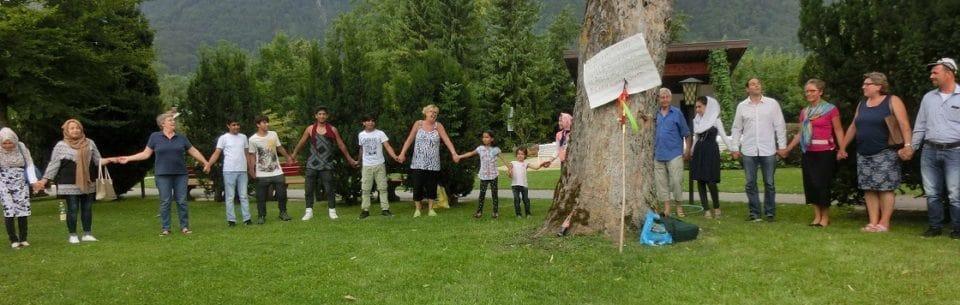 Friedenkreis beim Aschauer Grillfest
